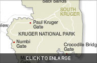 KrugerNationalParkSurroundingAreas map